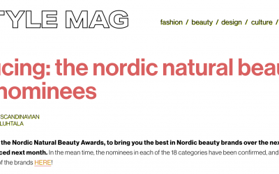 NOMINEES FEATURED IN NORDIC STYLE MAGAZINE